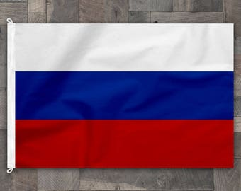 100% Cotton, Stitched Design, Flag of Russia, Made in USA