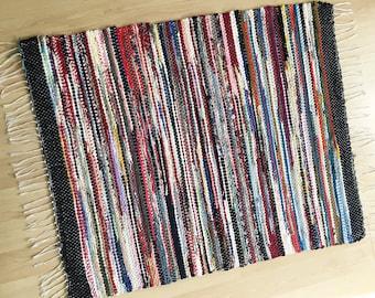POTPOURRI -- Handwoven multicolored rug