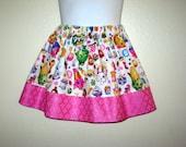 Shopkins Party girls skirt, Lippy Lip shopkins skirt, 6M to size 8