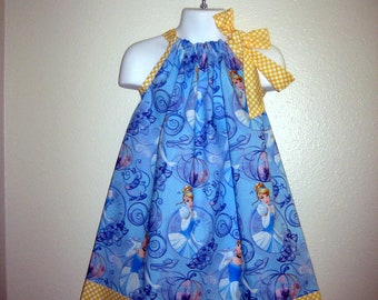 Blue Disney Cinderella Princess Pillowcase dress, Babies, Toddlers and Girl sizes
