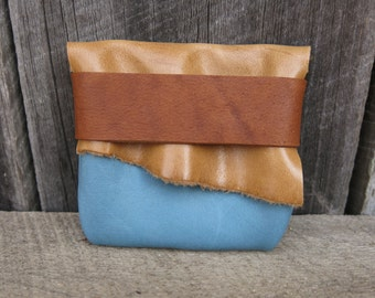 Earth and Sky Blue Light Traveler Eco Leather Pouch