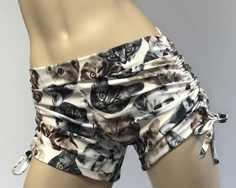 Hot Yoga Shorts - Yoga Shorts - Fitness Shorts - Cat shorts - Pole Fitness - Pole Dance - Plus Size Workout - SXYfitness - Handmade - USA