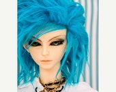 15% OFF Akasarushi Cerulean Blue Color Fur Wig Made for abjd doll size SD MSD tiny yosd and puki