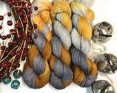 Friends-- Merino/nylon hand dyed sock yarn, merino and nylon, (463yds/100gm)