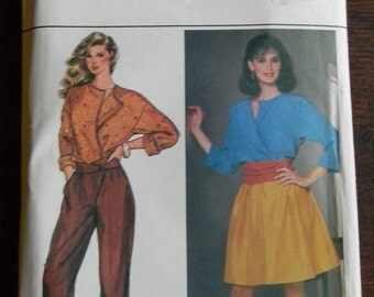 Vintage Butterick Pattern #4604, for Top, Skirt and Pants, Uncut Sizes 8 thru 16,