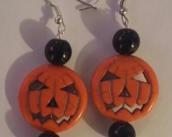 Pumpkin, Pumpkin earrings, Jack o latern, Halloween, Halloween earrings, Horror, Goth, MsFormaldehyde