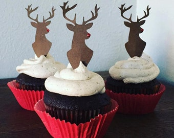 Rudolph Reindeer Cupcake Toppers
