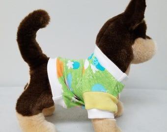 Dog Clothes Bright Bugs Tshirt, Chihuahua, Yorkie