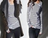Long long sleeves - dress up base V neck version (Y1116vn)