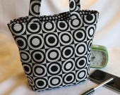 Emily bag in striking geometric fabric