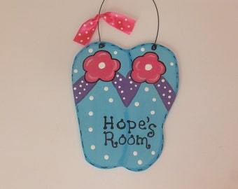 Flip Flop Wall Hanging - Personalized