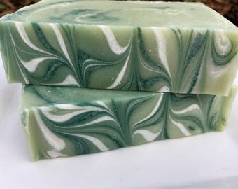 Cucumber Mint Handmade Cold Processed Soap with Coconut milk