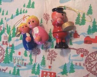 miniature wooden ornaments
