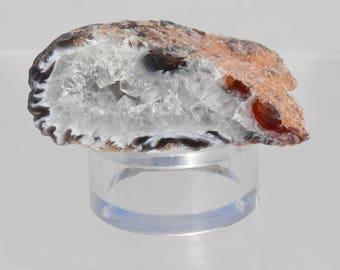 OG-10  Small Oco Geode Lace Agate Quartz Crystal Polished Specimen