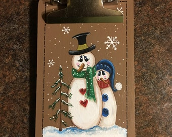 Hand-Painted Mini Clipboard