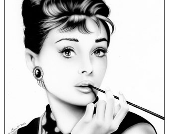 Audrey Hepburn 11x14 Art Print Hollywood Icon