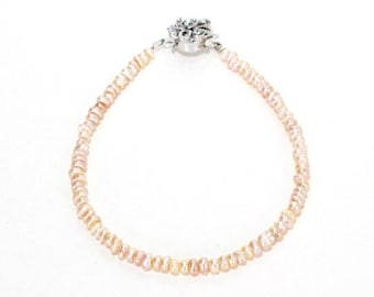 Clearance Sale Blush peach small sand pearl bracelet