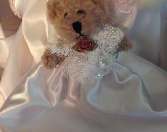 Small dressed teddy bear