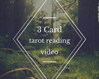 Personal video tarot reading / 3 card reading / video tarot reading / online tarot / spiritual service / intuitive reading / monthly outlook
