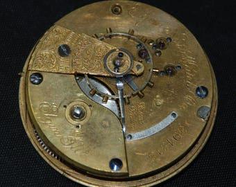 Gorgeous Vintage Antique Elgin Watch Pocket Watch Movement Steampunk Altered Art Assemblage Industrial LR 1