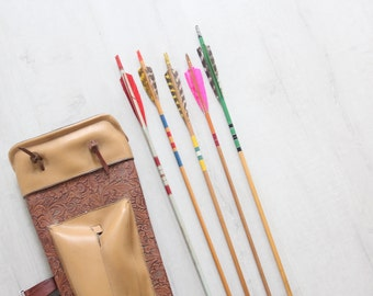 Collection of Vintage Arrows (Set of 5) with Carrying Case