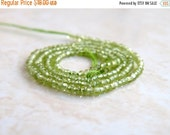 Love You 51% off Sale Peridot Gemstone Rondelle Green Exceptional Faceted 2mm 200 beads Full strand