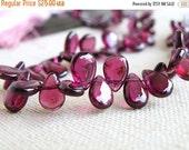 Love You 51% off Sale Rhodolite Garnet Gemstone Briolette Smooth Pear teardrop 7.5 to 8mm 27 beads 1/2 strand