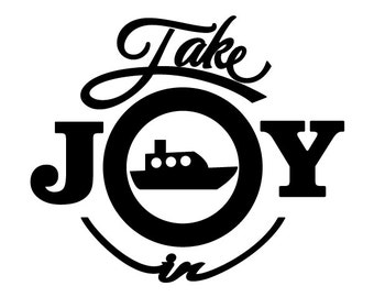 Take Joy In Boating Decal