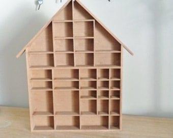 Vintage House Shaped Shadow Box