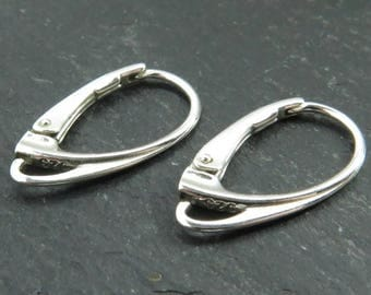 Sterling Silver Contemporary Lever Back ~ PAIR (CG8271)