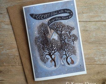 Forever filled with Magic may this place be. Greeting Card with Envelope/Magical /House /Home