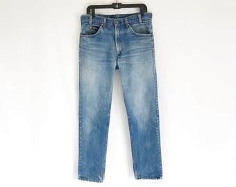 Vintage 70's LEVIS 505 Orange Tab Straight Leg Jeans. Tagged size 34 x 33