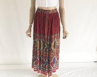Vintage 80's Gauze Cotton India Skirt