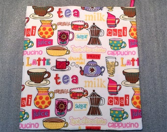 COFFEE and TEA MICROWAVE Potato Bag for microwave cooking, kitchen, housewarming, birthday, holiday, gifts, potato bag