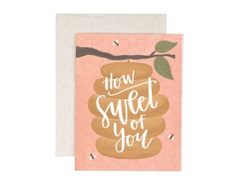 How Sweet of You Illustrated Card // 1canoe2