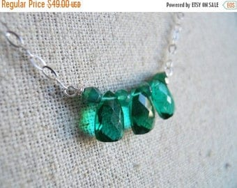 20% OFF, Christmas Green Necklace, Emerald Green Trillion Necklace, Style: Cleo Goddess Pyramid Necklace ,Sterling, onyx necklace, gemstone