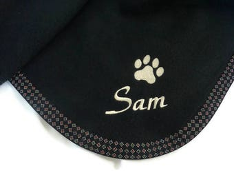 Pet Blanket.Personalized Pet Blanket. Dog Blanket. Cat Blanket. Fleece Pet Blanket. Black Pet Blanket