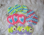 Easter Egg felt sticker embellishments Easter party favor fabric eggs crafting supplies DIY Easter kids crafts supplies fabric stickers