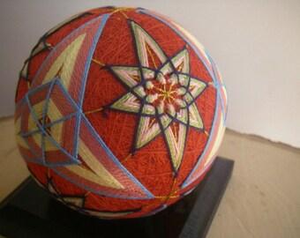 Hand made Temari ball (star)
