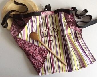 Yummy Mummy Apron,Ladies Apron,Half apron,Peg apron,womans apron-can be personalised
