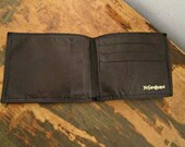 Ives Saint Laurent Men's leather wallet men's billfold wallet genuine leather wallet