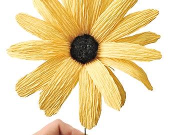 Daisy or Black-Eyed Susan: Handmade Crepe Paper Flower