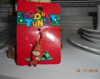 Vintage Miniature Looney Tunes Elmer Fudd Christmas Ornament