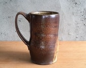Handmade, wood fired large mug, by Julie crosby