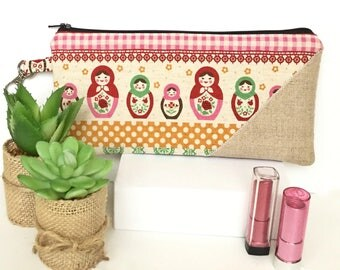 Matryoshka Pencil Case, Kawaii Pencil Pouch, Cute Pencil Pouch, Cute Pencil Case, Cute Pencil Bag, Back to School Supplies, Matryoshka Doll