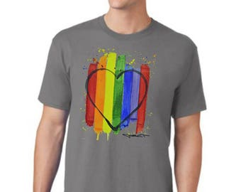 Love Outside the Lines/T-Shirt/Tee/Equality/Pride/Unisex