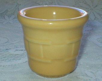 Longaberger Bowl Woven Tradition Butternut Yellow Small Nesting Bowl