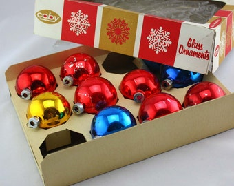 Coby Glass Christmas Tree Ornaments in Box