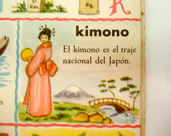 FOUND IN SPAIN -- children's dictionary - great illustrations - spanish language