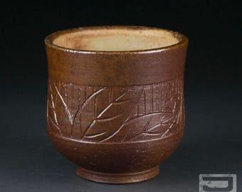 8 oz Salt-Fired Stoneware Yunomi (tea cup)